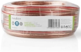 Högt.kabel 2x4mm² 15m transparent