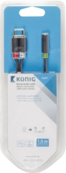 Adapter kabel stereo 3,5 mm hona - 2xRCA hanar 1m